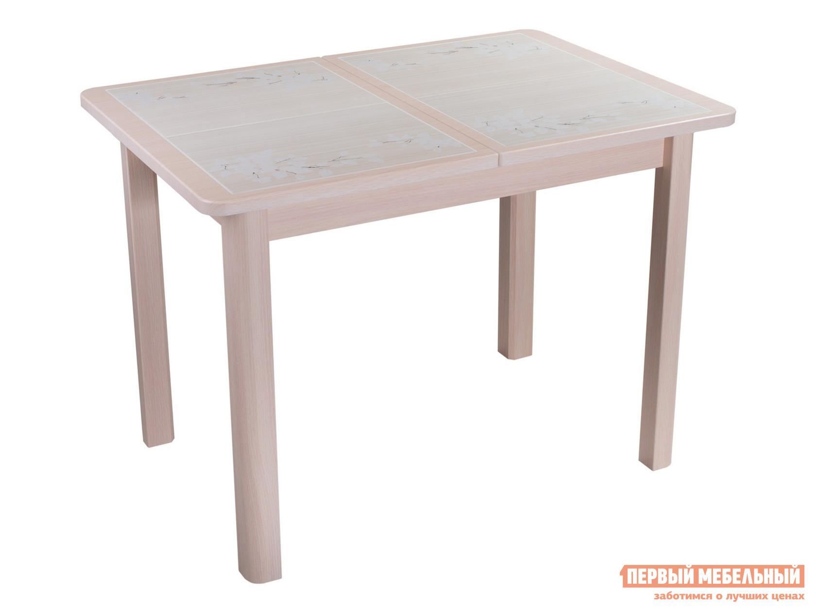 Кухонный стол  Каппа ПР ВП 4 Молочный дуб / Плитка 42