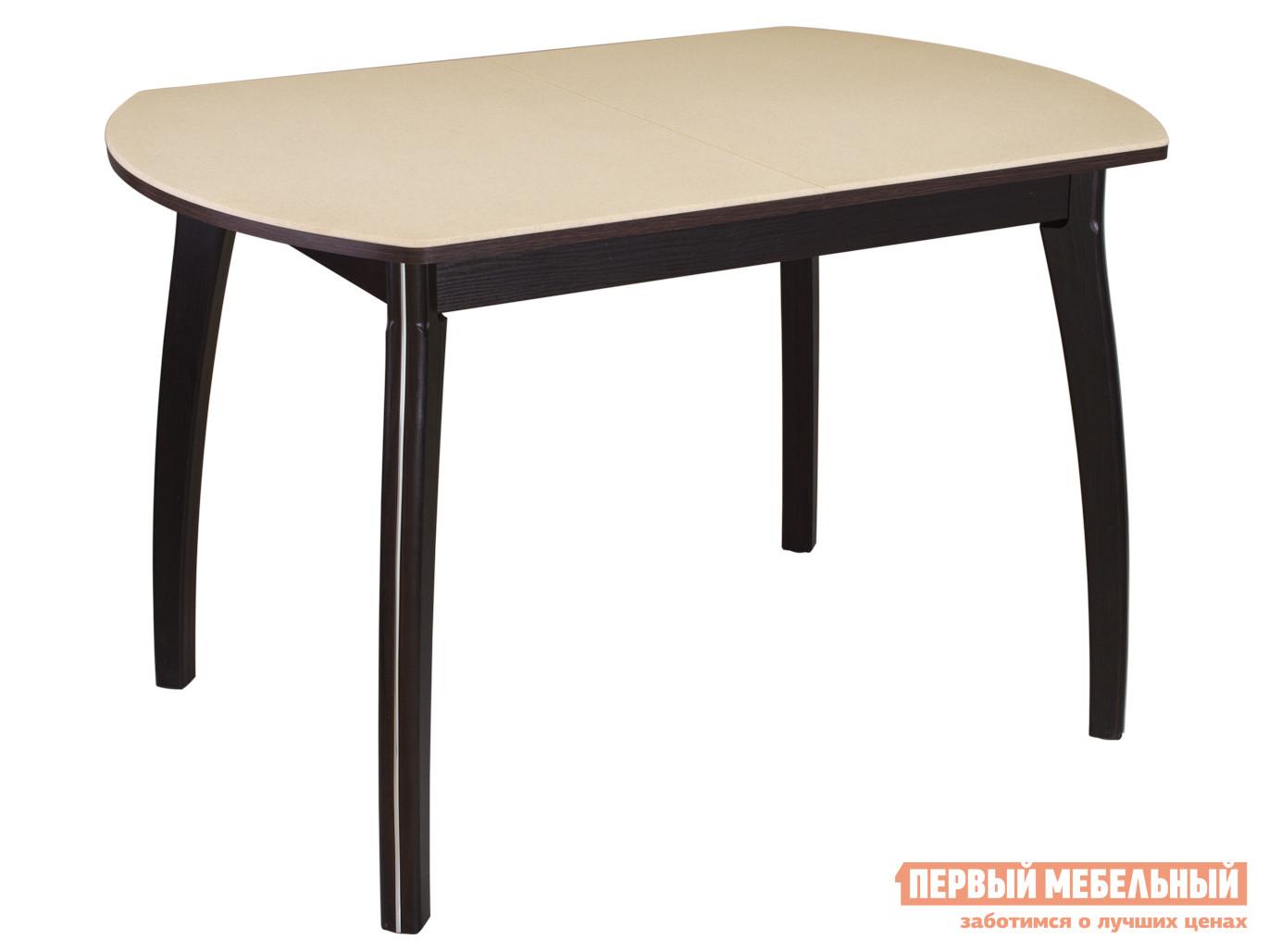 Обеденный стол  Обеденный стол Румба ПО КМ Бежевый 06 / Венге ВН, Средний