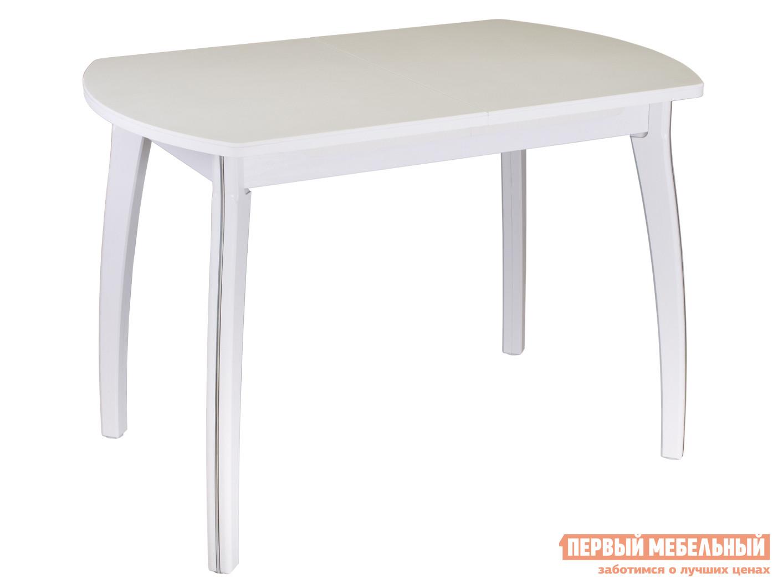Обеденный стол  Обеденный стол Румба ПО КМ Белый 04 / Белый БЛ, Средний