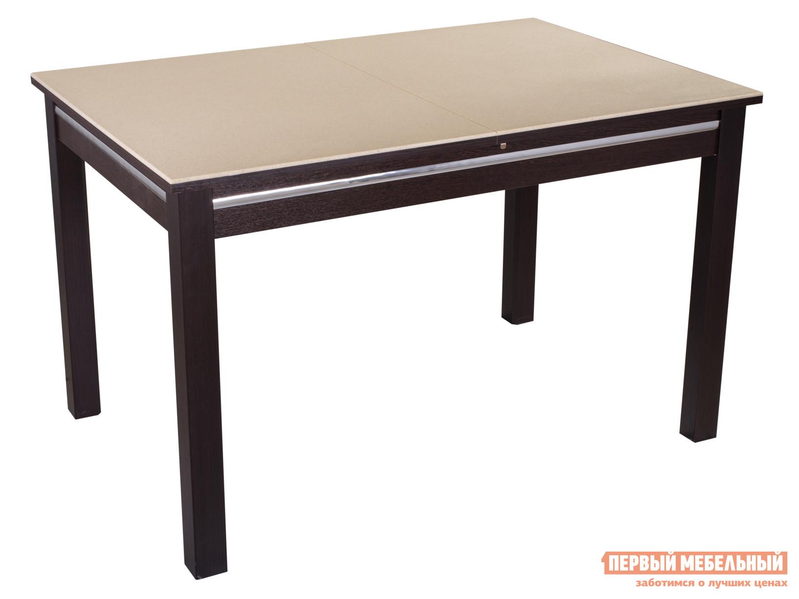 Обеденный стол  Обеденный стол Самба КМ Бежевый 06 / Венге ВН, Большой