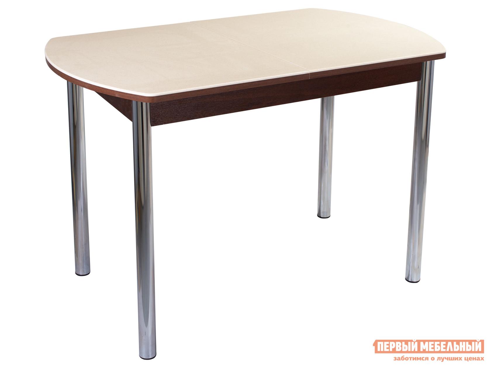 Кухонный стол Обеденный стол Румба ПО КМ Бежевый 06 / Орех ОР, Средний фото