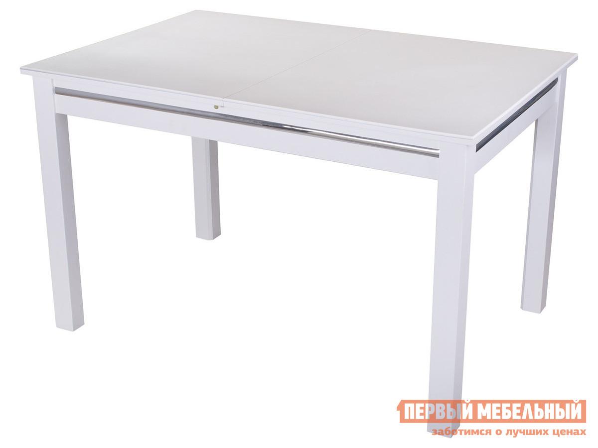 Обеденный стол Домотека Бета-1 КМ 08 Белый / Белый 04/БЛ
