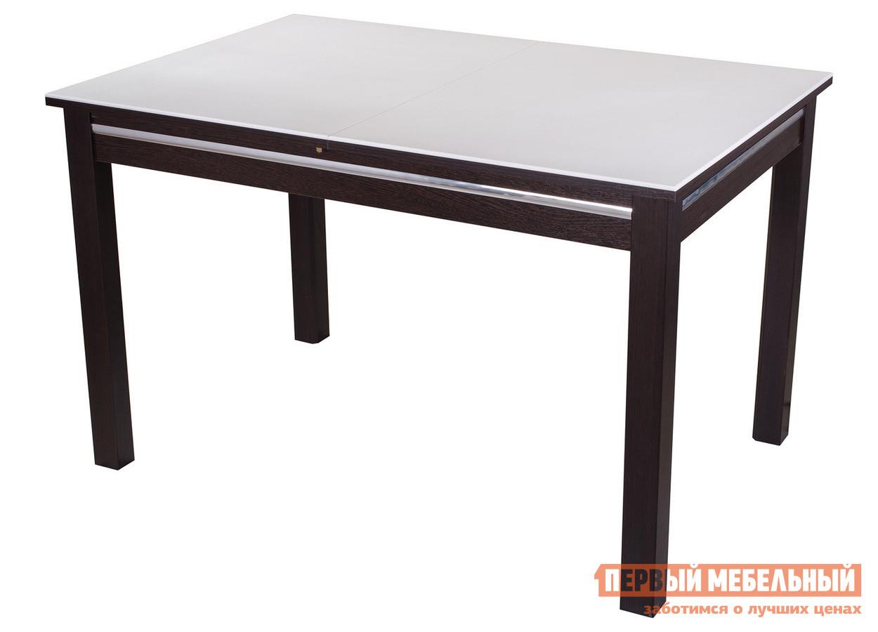 Обеденный стол Домотека Бета-1 КМ 08 Венге / Белый 04/ВН