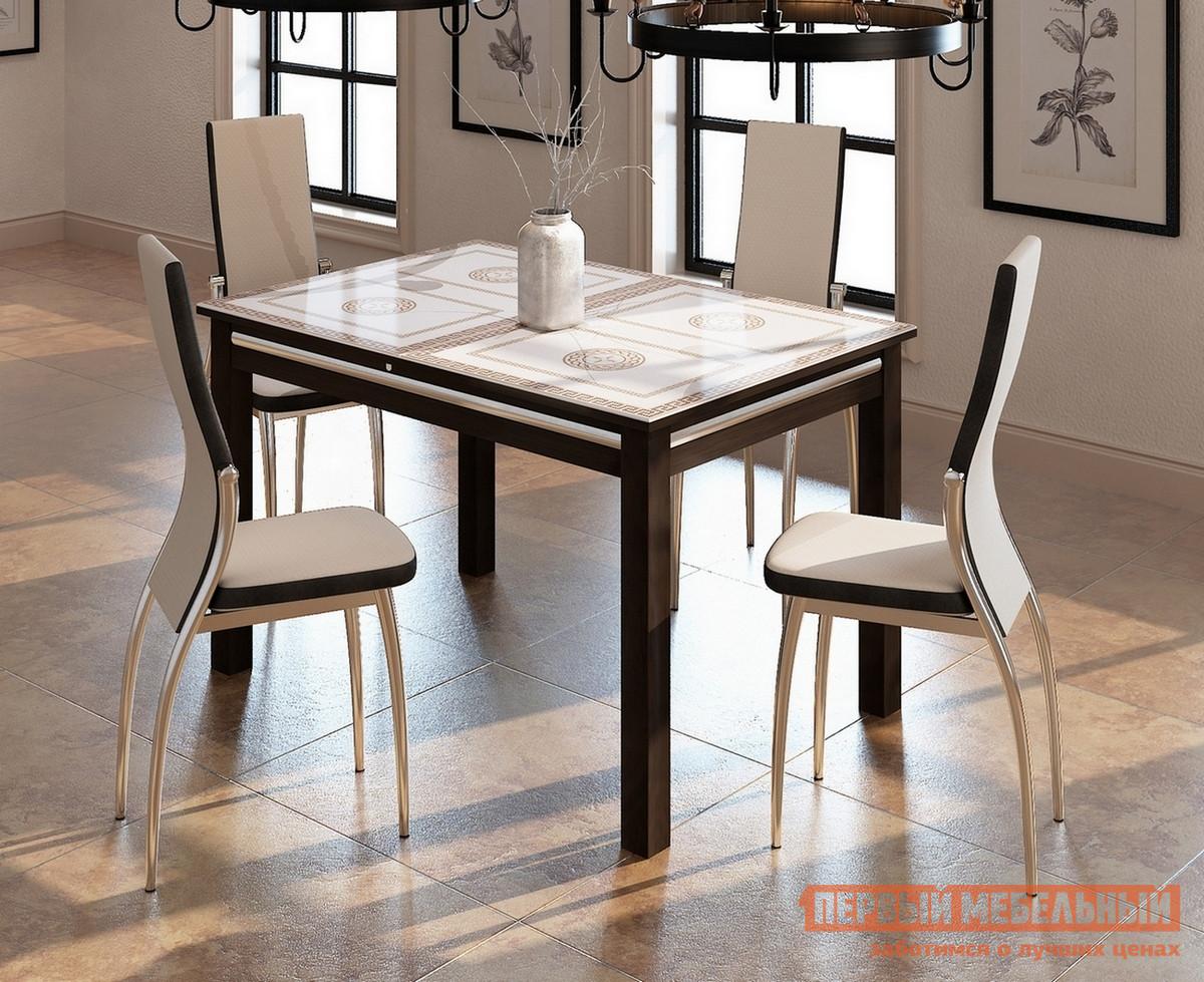 Обеденная группа для столовой и гостиной Домотека Стол Дельта-1 08 + 4 стула Милано