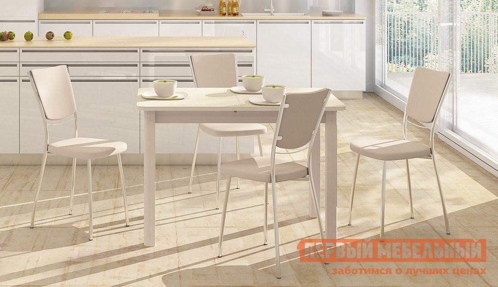 Обеденная группа для кухни Домотека Стол Альфа ПР КМ 06 (6) + 4 стула Омега-5 (комфорт)