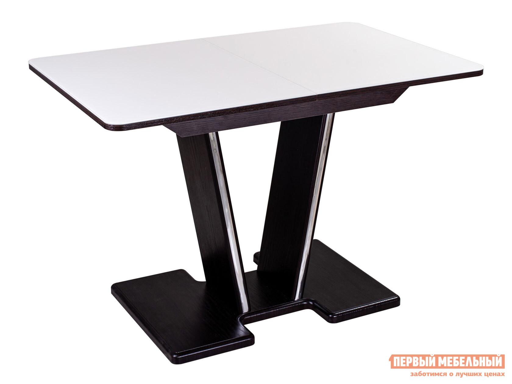 Кухонный стол Домотека Танго ПР со стеклом с ножками 03