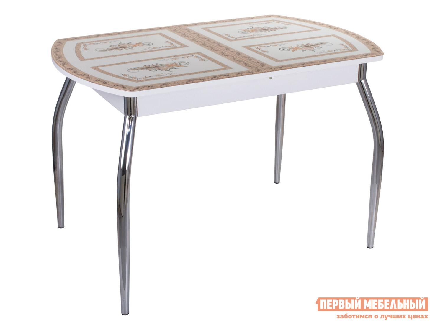 Кухонный стол Домотека Танго ПО со стеклом с ножками 01