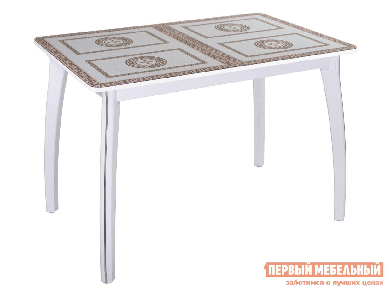 Кухонный стол Домотека Танго ПР со стеклом с ножками 07