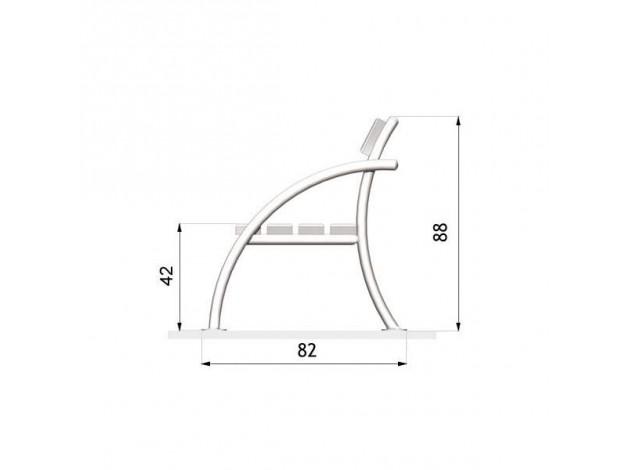 Скамейка из профильной трубы со спинкой чертежи