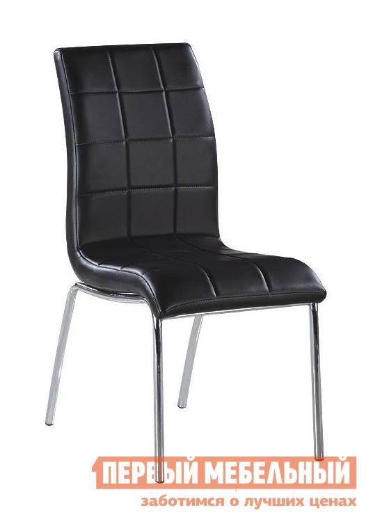 Стул Симтрейд Eleganza C-345 ЧерныйСтулья для кухни<br>Габаритные размеры ВхШхГ 960x440x470 мм. Стильный стул с изогнутой спинкой отлично дополнит современный интерьер комнаты.  Спинка и сидения модели декорированы оригинальный прострочкой. Высота от пола до сидения — 405 мм. Каркас стула и ножки выполняются из хрома, диаметр ножек составляет 22 мм, обивка — PU. Максимальная допустимая нагрузка на стул составляет 120 кг.<br><br>Цвет: Черный<br>Цвет: Черный<br>Высота мм: 960<br>Ширина мм: 440<br>Глубина мм: 470<br>Кол-во упаковок: 1<br>Форма поставки: В разобранном виде<br>Срок гарантии: 3 месяца<br>Тип: в гостиную<br>Материал: Металлические, Кожаные<br>Особенности: С мягким сиденьем, С мягкой спинкой