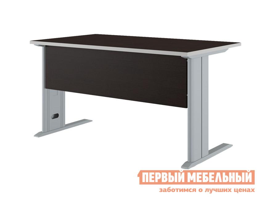 Письменный стол Pointex SWF27410701 Темный дубПисьменные столы для офиса<br>Габаритные размеры ВхШхГ 750x1600x800 мм. Прямой компьютерный стол на металлических ножках.  Имеет столешницу размером (ШхГ): 1600 х 800 мм.  Ножки-опоры регулируются по высоте.  Изделие выполнено из ЛДСП толщиной 25 и 18 мм.  Торцевые части деталей облицованы защитной кромкой АBС. Обратите внимание! В разделе «Аксессуары» можно ознакомиться с элементами, которые дополнят компьютерный стол и сделают его более функциональным.<br><br>Цвет: Коричневое дерево<br>Высота мм: 750<br>Ширина мм: 1600<br>Глубина мм: 800<br>Форма поставки: В разобранном виде<br>Срок гарантии: 1 год<br>Тип: Прямые<br>Материал: Дерево<br>Материал: ЛДСП