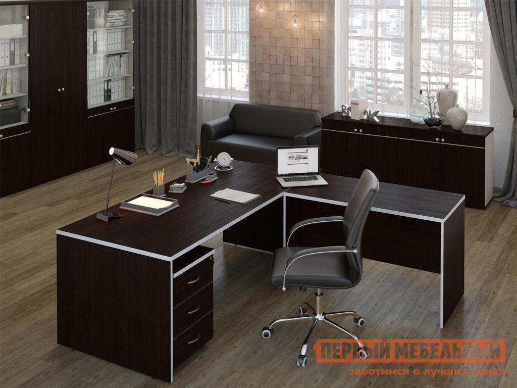 Комплект офисной мебели Pointex Свифт Темный К1 комплект офисной мебели riva рива клен к1