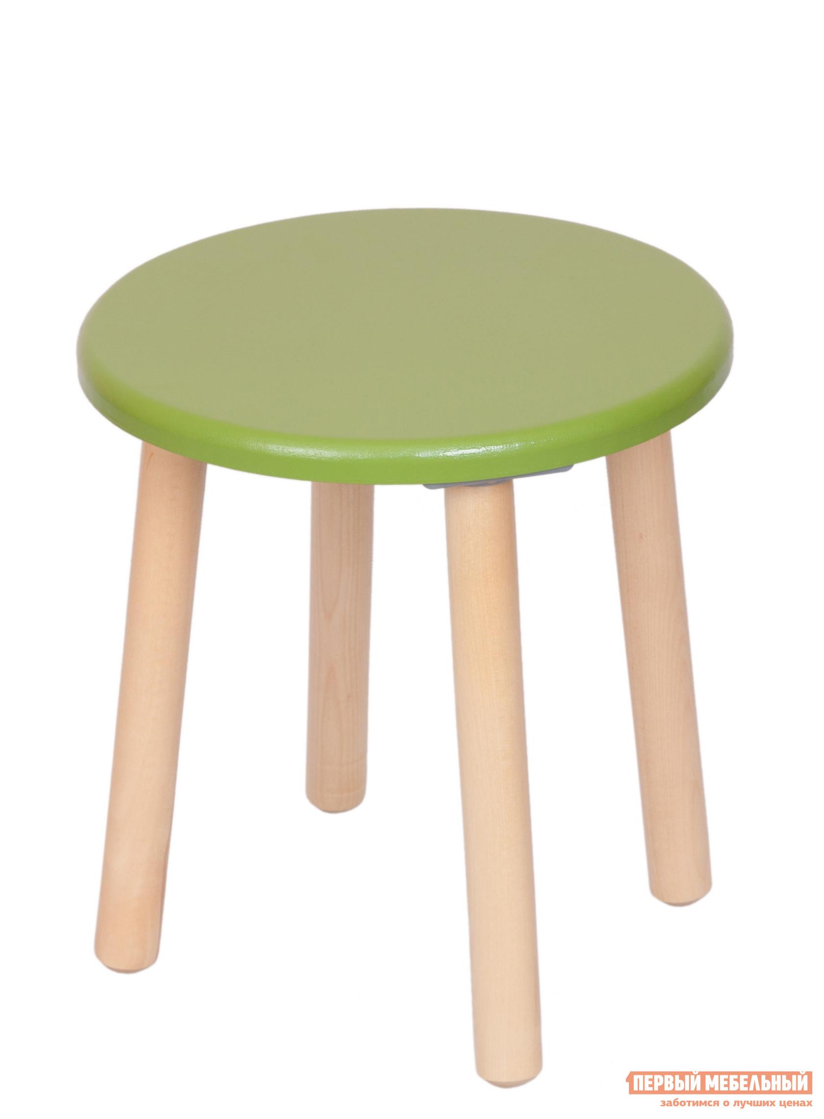 Столик и стульчик РусЭкоМебель Табурет ЭКО Эко зеленыйСтолики и стульчики<br>Габаритные размеры ВхШхГ 320x310x310 мм. Детская табуреточка чрезвычайно практичный и функциональный предмет интерьера, веселая цветовая гамма которого поможет создать в комнате малыша атмосферу детства.  На ней можно сидеть, использовать в качестве подставочки, когда малышу сложно дотянуться до нужного предмета, или же превратить в детский столик при необходимости.  Табуреточка создана специально для малышей в возрасте от 2 года до 7 лет.  Ножки табурета изготовлены из натурального дерева — массива березы, сидение — МДФ.  Окраска сидения выполнена безопасной для малышей эко-краской.  Все детали тщательно отполированы, покрыты лаком.  Форма ножек стола расширена для придания изделию дополнительной устойчивости. Табуреточка выдерживает нагрузку до 120 кг.<br><br>Цвет: Зеленый<br>Высота мм: 320<br>Ширина мм: 310<br>Глубина мм: 310<br>Кол-во упаковок: 1<br>Форма поставки: В разобранном виде<br>Срок гарантии: 12 месяцев<br>Материал: Дерево<br>Материал: Натуральное дерево<br>Порода дерева: Береза<br>Пол: Для девочек<br>Пол: Для мальчиков
