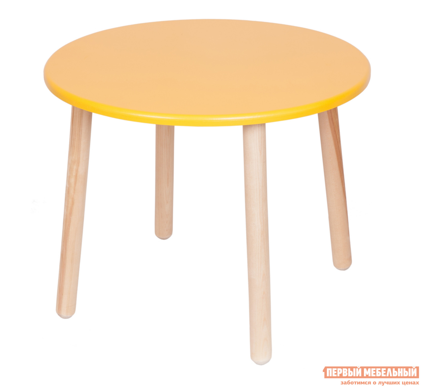 Фото Столик и стульчик РусЭкоМебель Стол Круглый Д60 ЭКО Эко желтый. Купить с доставкой