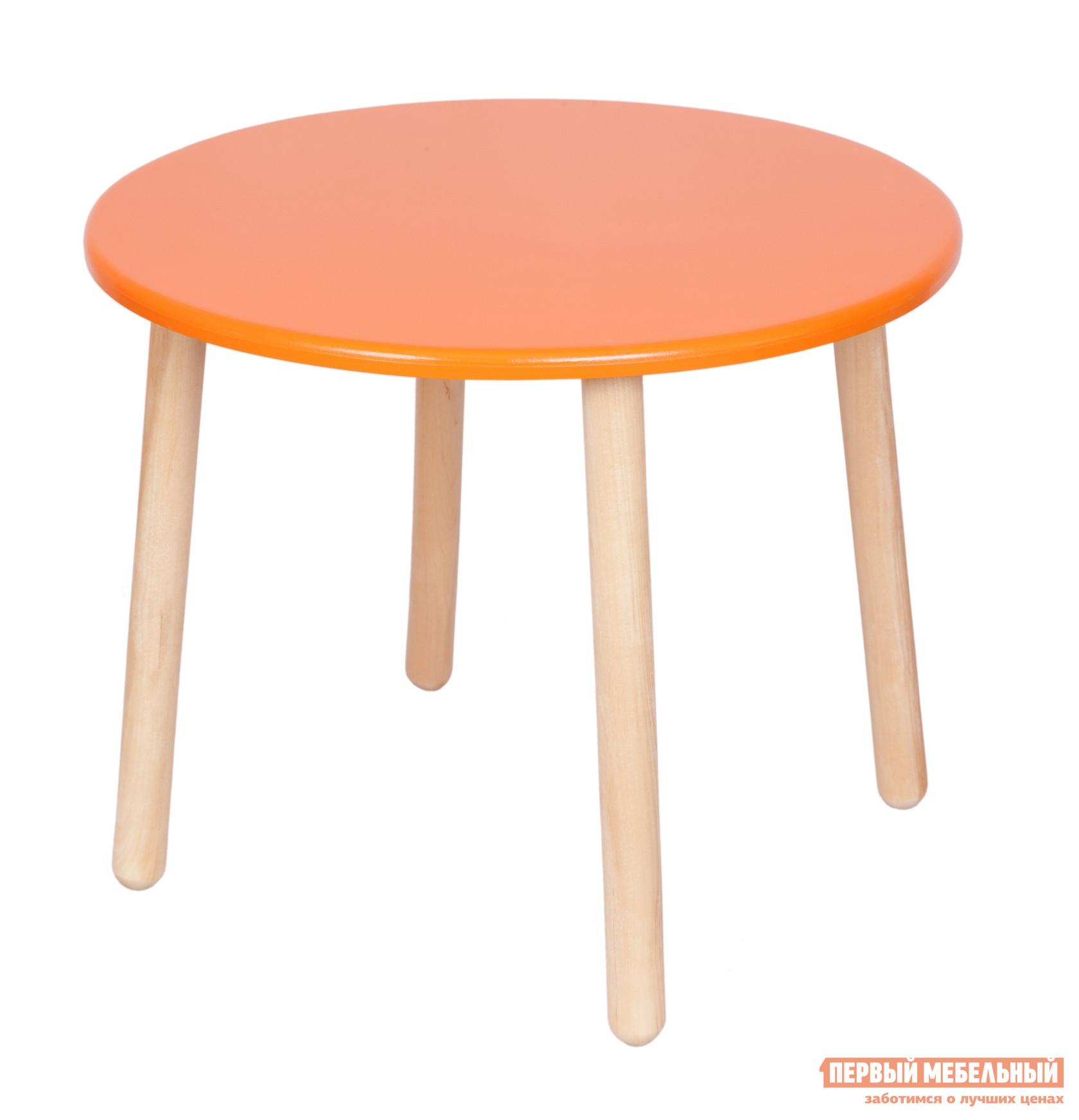 Столик и стульчик РусЭкоМебель Стол Круглый Д60 ЭКО Эко оранжевый