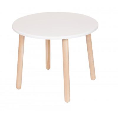 Столик и стульчик РусЭкоМебель Стол Круглый Д60 ЭКО Эко белый