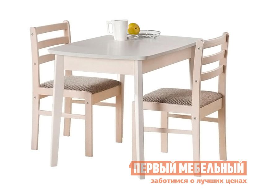 Обеденная группа для столовой и гостиной Боровичи Стол обеденный раздвижной (овальная крышка) + 2 стула массив полумягкий