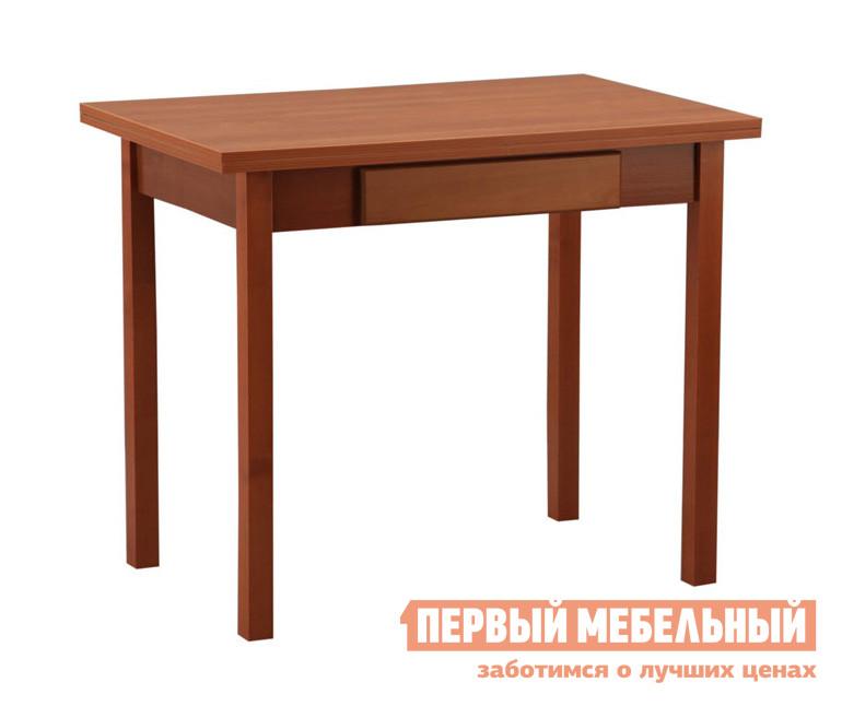 Кухонный стол Боровичи Стол обеденный раскладной с ящиком ВишняКухонные столы<br>Габаритные размеры ВхШхГ 750x900 / 1200x600/900 мм. Раскладной обеденный стол.  В сложенном состоянии модель прекрасно подойдет для небольшой кухни. Модель раскладывается до 1200 мм, позволяя с комфортном разместить гостей. В подстолье есть ящик для столовых приборов с 6 ячейками, он входит в стоимость стола и имеет размер 49х38х4 см.  Стол выполнен из ЛДСП класса Е1, толщина 16 мм.<br><br>Цвет: Вишня<br>Цвет: Красное дерево<br>Высота мм: 750<br>Ширина мм: 900 / 1200<br>Глубина мм: 600/900<br>Кол-во упаковок: 1<br>Форма поставки: В разобранном виде<br>Срок гарантии: 18 месяцев<br>Тип: Раскладные, Трансформер<br>Материал: Деревянные, из ЛДСП<br>Форма: Прямоугольные<br>Размер: Маленькие<br>Особенности: С ящиками