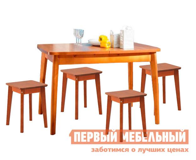 Обеденная группа для кухни Боровичи Акендора + 4 Персея обеденная группа с круглым столом для кухни боровичи норония 4 диметра