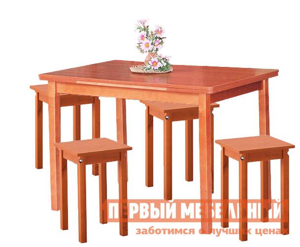 Деревянная обеденная группа для кухни Боровичи Миндоро + 4 Каппа обеденная группа с круглым столом для кухни боровичи норония 4 диметра
