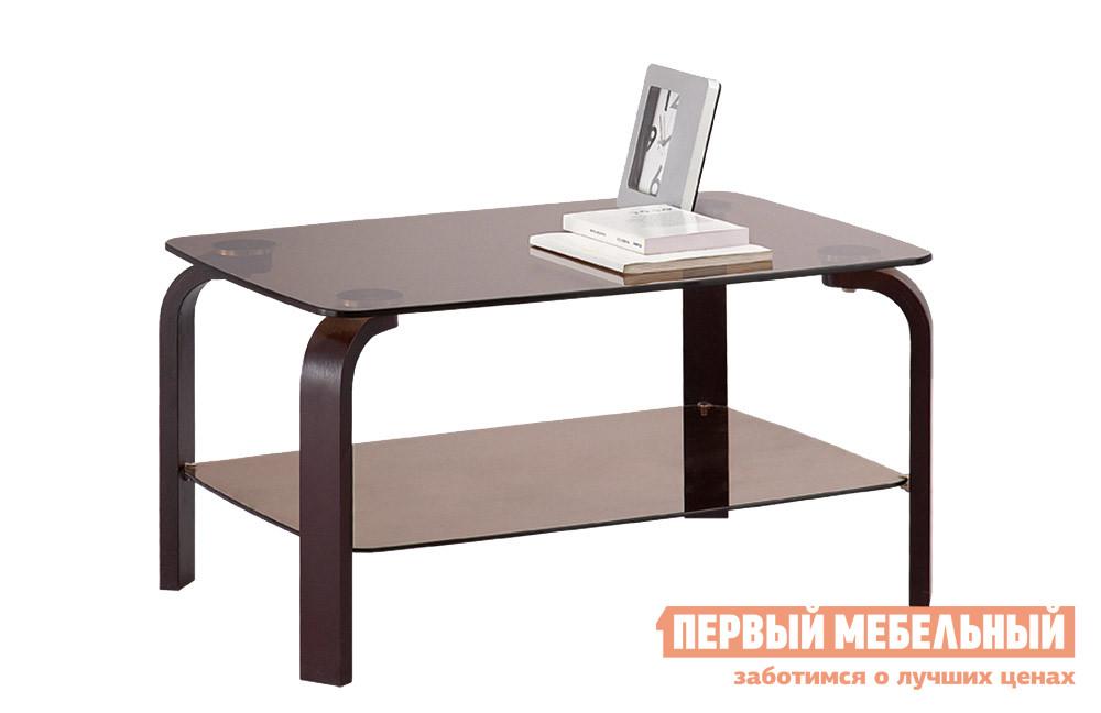 Журнальный столик Боровичи Стол журнальный со стеклом (гнутая нога)