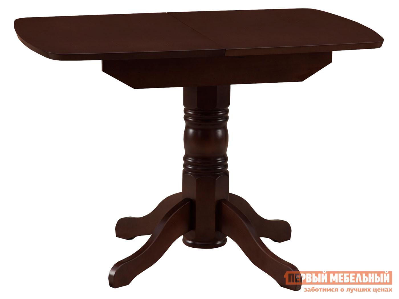 Кухонный стол  обеденный раздвижной овальная крышка массив Венге Боровичи 98265