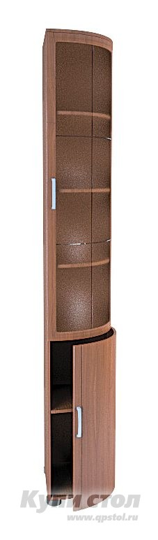 Шкаф-витрина Боровичи Шкаф торцевой с гнутым фасадом Классика