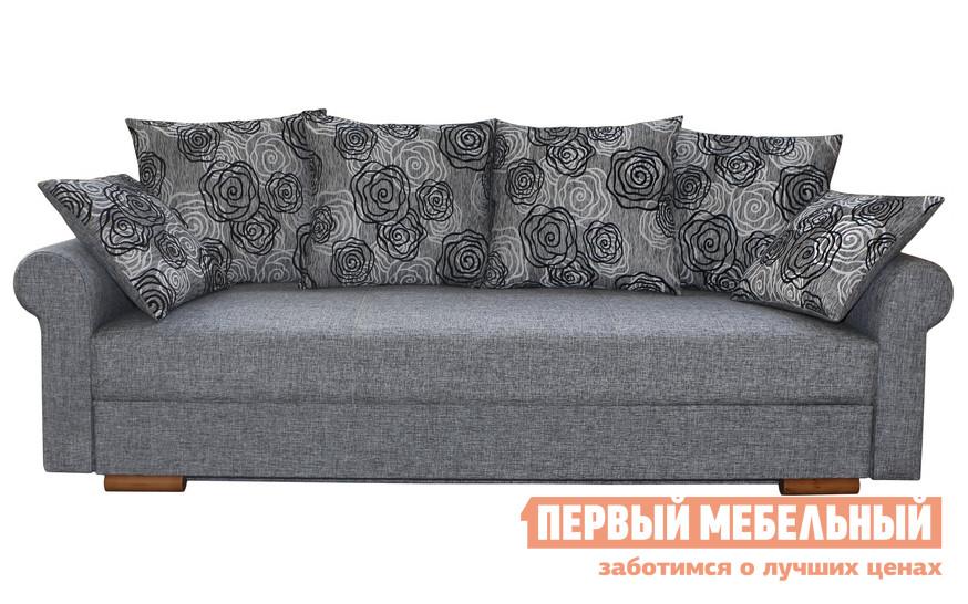 Диван Боровичи Лира Люкс с боковинами 1500 Х 2000 мм, Модерн пепельный / Rose 1 (I категория)