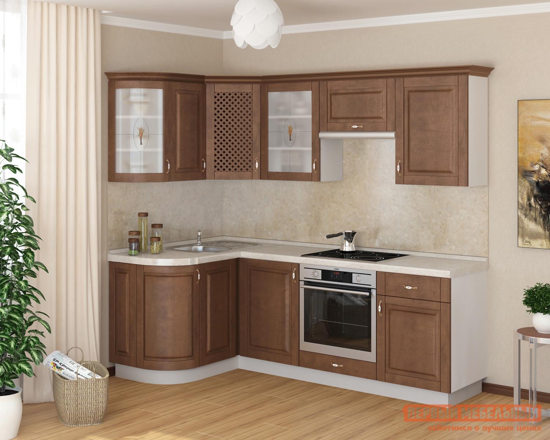 Угловой кухонный гарнитур из дерева Боровичи Массив-Люкс 1335х1600