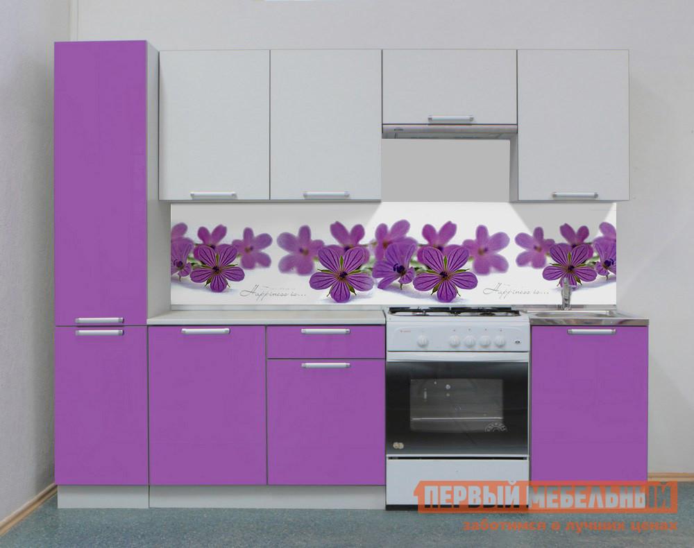 Кухонный гарнитур Боровичи Симпл Лаванда 2500 мм кухонный гарнитур трия фэнтези 120 см