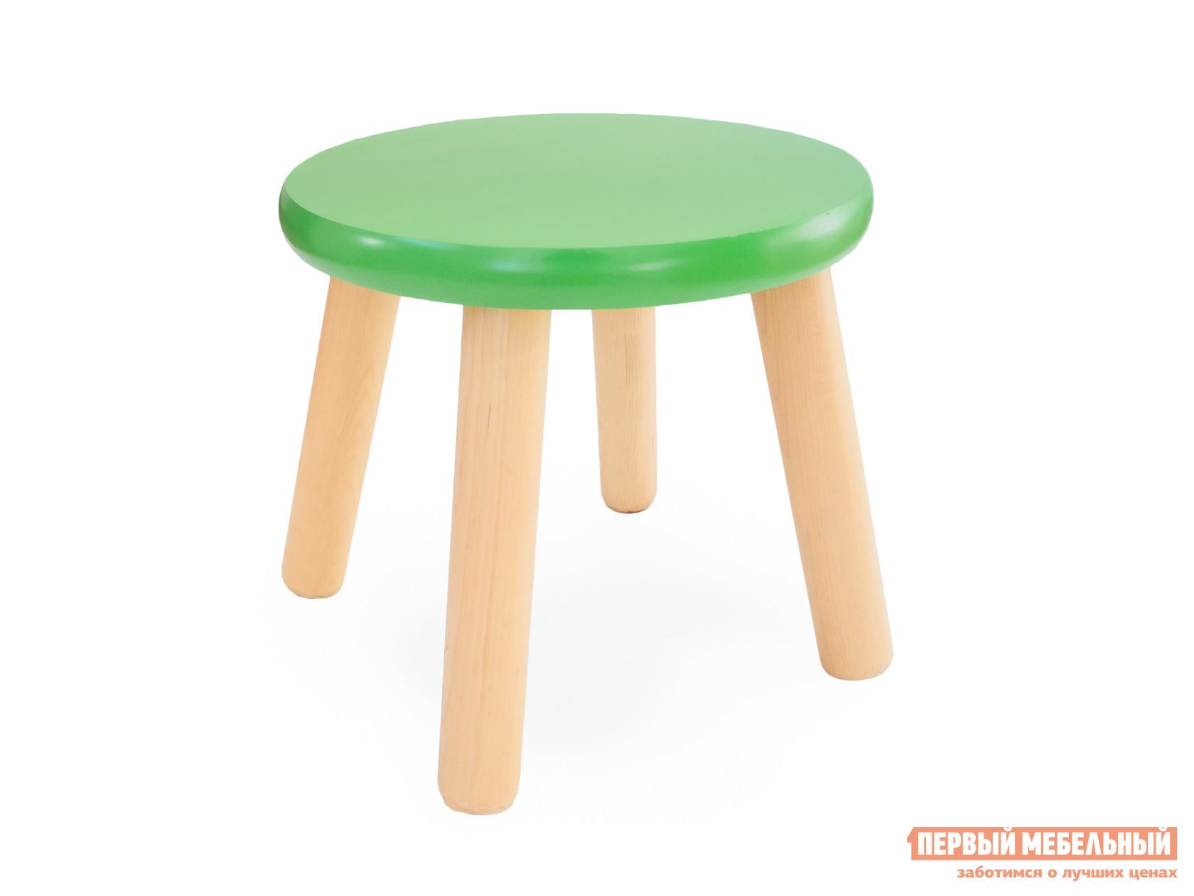 Столик и стульчик Боровичи Табурет детский Ольха / Зеленый