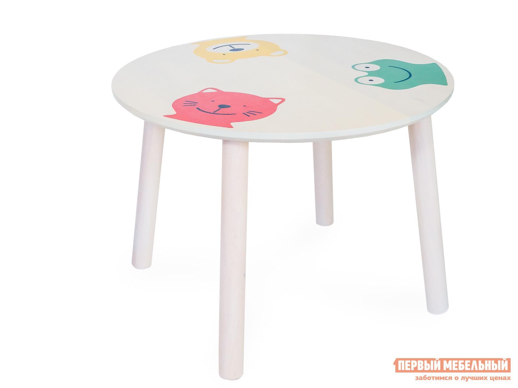 Фото Столик и стульчик Боровичи Стол круглый детский Выбеленная береза. Купить с доставкой