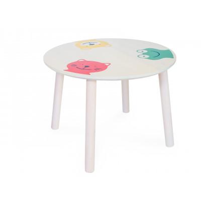 Столик и стульчик Боровичи Стол круглый детский Выбеленная береза