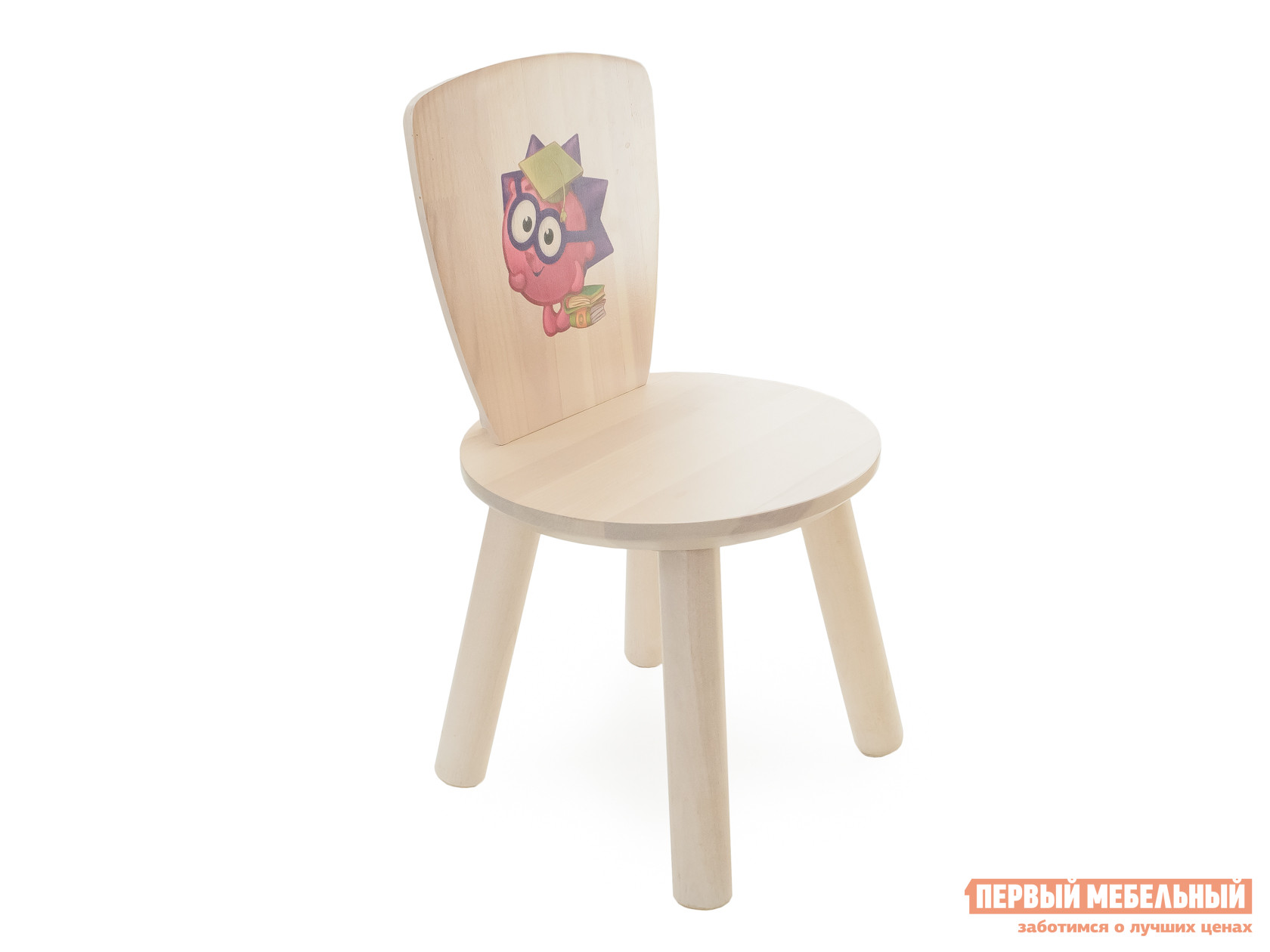 Столик и стульчик Боровичи Стул детский Красный, Выбеленная береза