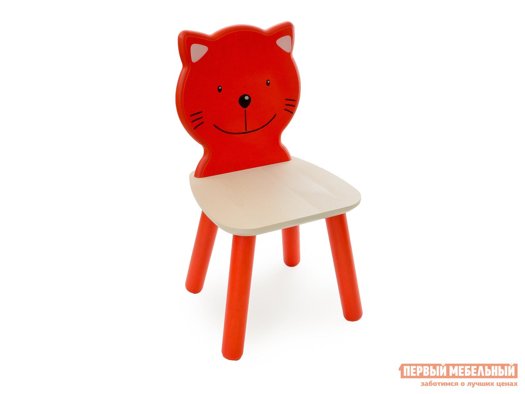 Столик и стульчик Боровичи Стул детский Котенок Выбеленная береза