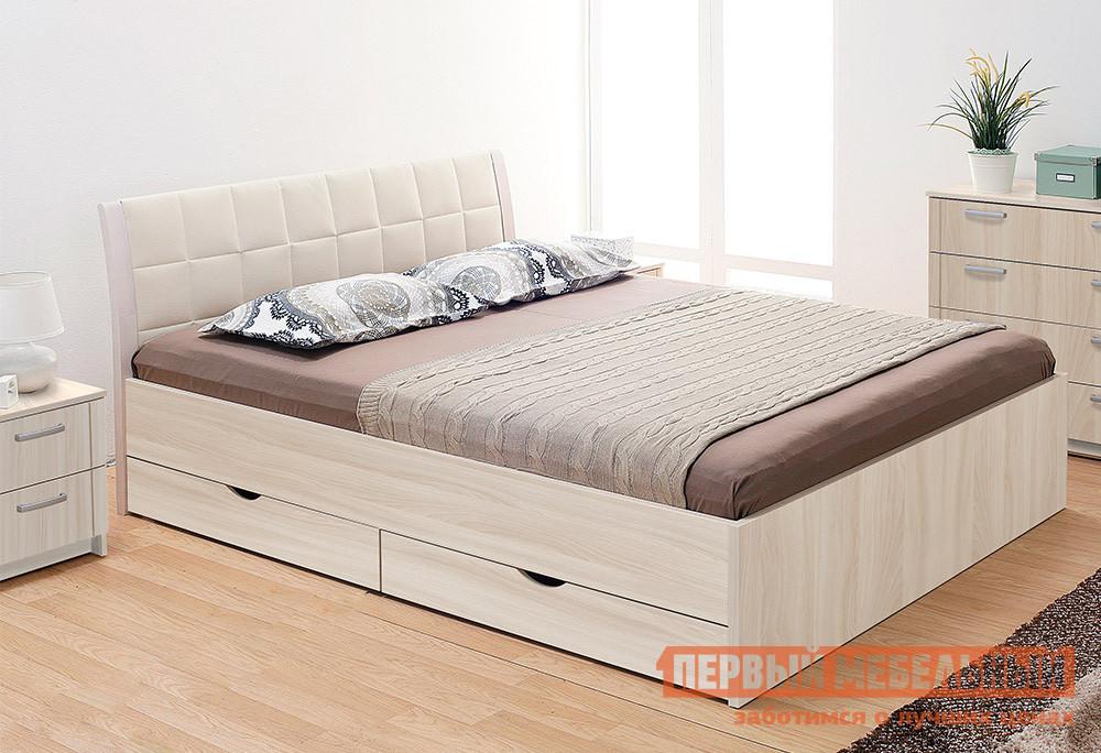 Двуспальная кровать Боровичи Кровать Гнутая спинка мягкая с ящиками