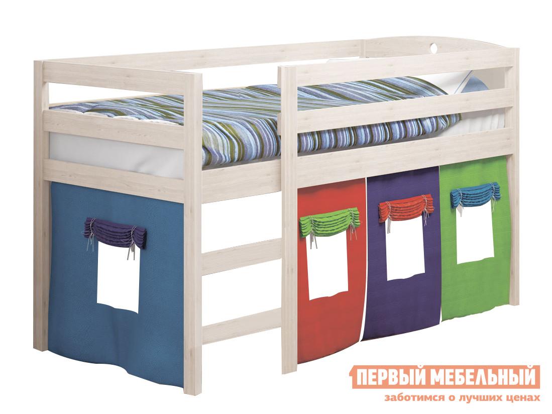 Детская кровать Кровать детская массив новая Выбеленная береза фото