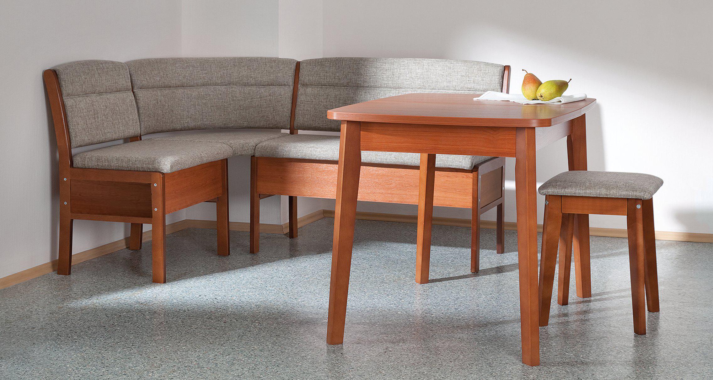 Кухонный уголок Боровичи Кухонный угловой диван Этюд облегченный с ящиком Серый, 2-1 (1500 Х 1100 мм)