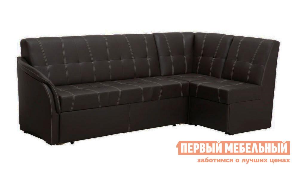 Фото Кухонный уголок Боровичи Угловой диван со спальным местом (Релакс) Boom Espresso (иск.кожа), 1 кат., Левый. Купить с доставкой
