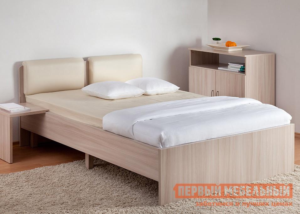 Двуспальная кровать Боровичи Мелисса с мягкой спинкой
