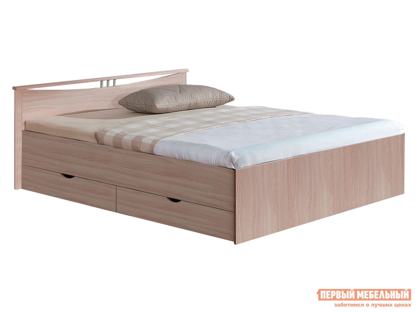 Двуспальная кровать  Кровать Мелисса Шимо светлый, 1600 Х 2000 мм — Кровать Мелисса Шимо светлый, 1600 Х 2000 мм