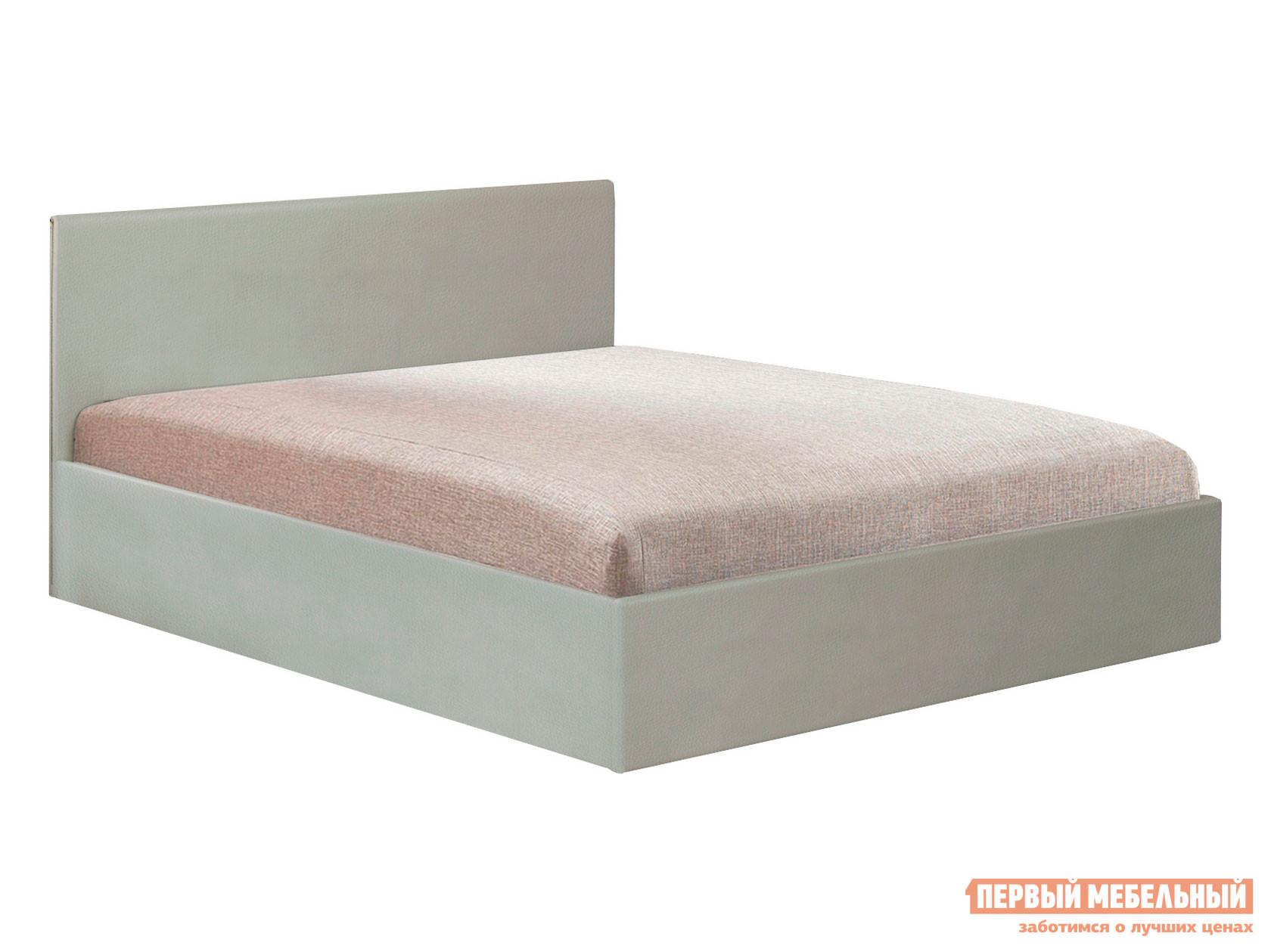 Двуспальная кровать  Тахта Софт Verde 04, экокожа (I кат.) / Ambrossia 1 кат., 1400 Х 2000 мм