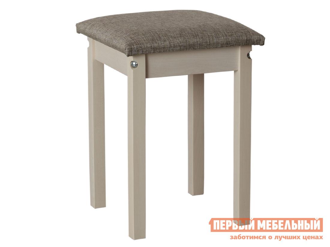 Табурет Табурет мягкая крышка прямая нога Выбеленная береза / Модерн Серый (1 кат.), ткань фото