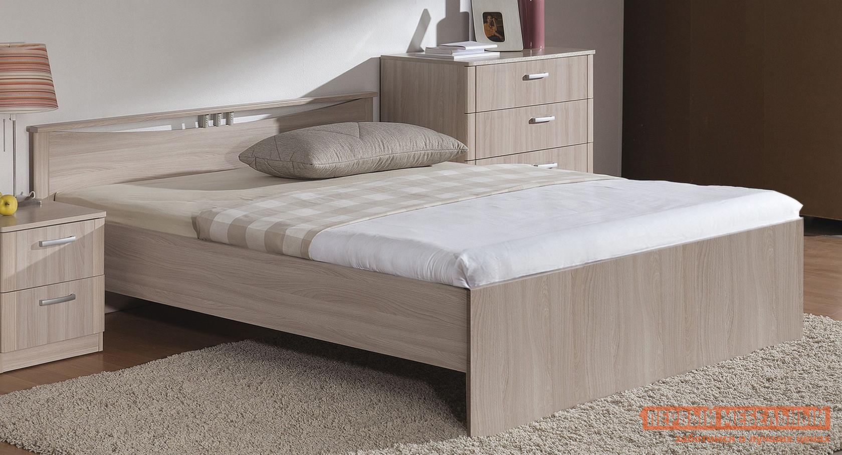 Кровать Боровичи Мелисса Шимо светлый, Без матраса, 1600 Х 2000 мм
