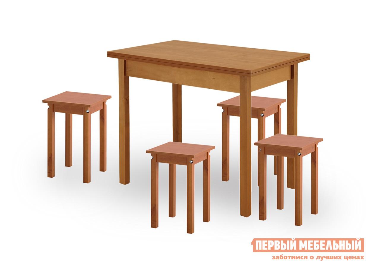 Деревянный кухонный стол и стулья Боровичи Хатико + 4 Каппа