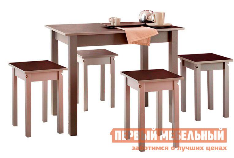 Деревянная обеденная группа для кухни Боровичи Топаз + 4 Каппа обеденная группа с круглым столом для кухни боровичи норония 4 диметра