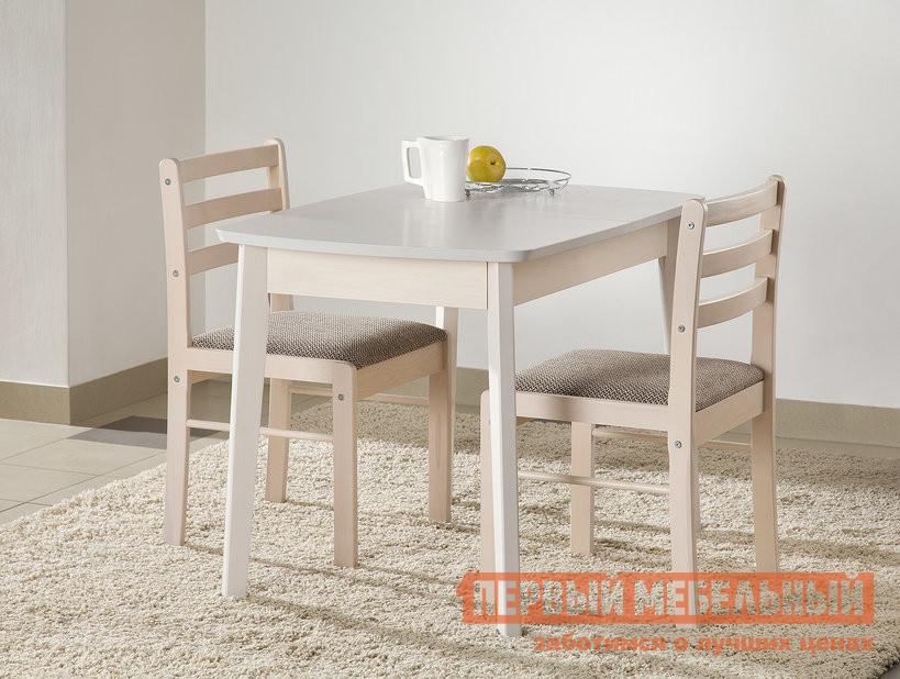 Обеденная группа для кухни Боровичи Стол обеденный раздвижной (овальная крышка) + 2 стула массив полумягкий