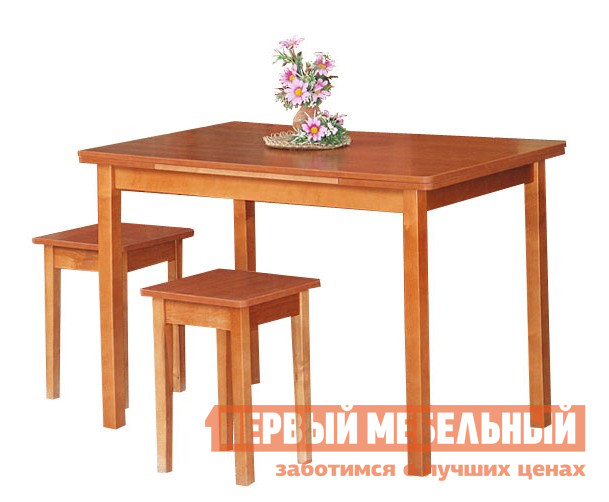 Кухонный стол Боровичи Стол обеденный раздвижной со скруглением 800/1230 Х 580 мм, Вишня