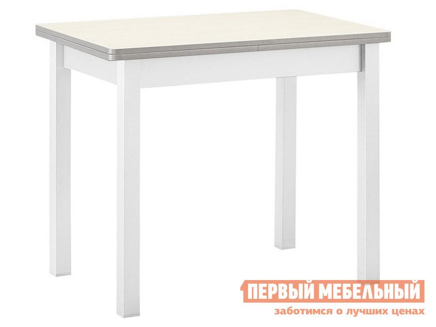 Кухонный стол  обеденный раскладной прямая ножка Авола ЛДСП / Белый Боровичи 810
