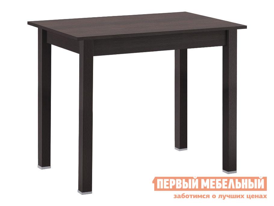 Кухонный стол Стол обеденный прямая ножка с ящиком Венге фото